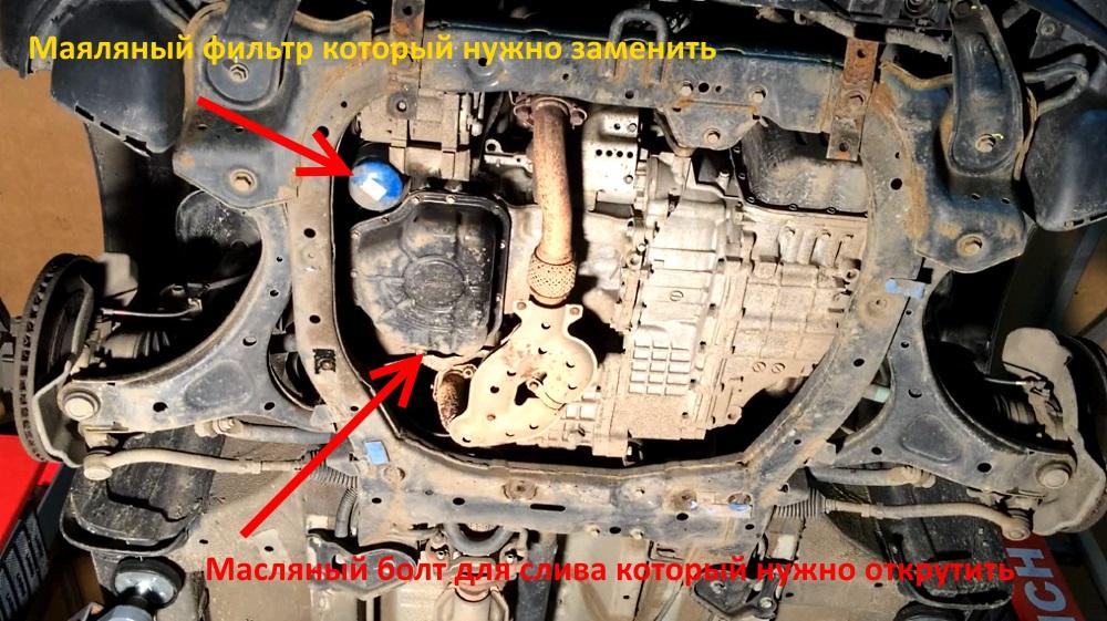Замена масла в двигателе Хендай Санта Фе