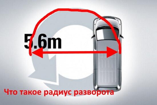что такое радиус разворота автомобиля