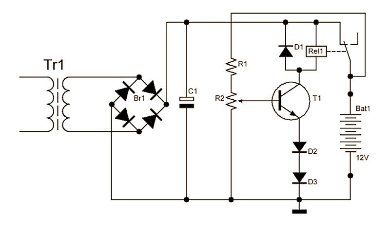 Описание схемы зарядного устройства автомобильного аккумулятора