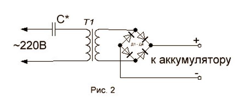 принципиальная электрическая схема зарядного устройства для автомобиля