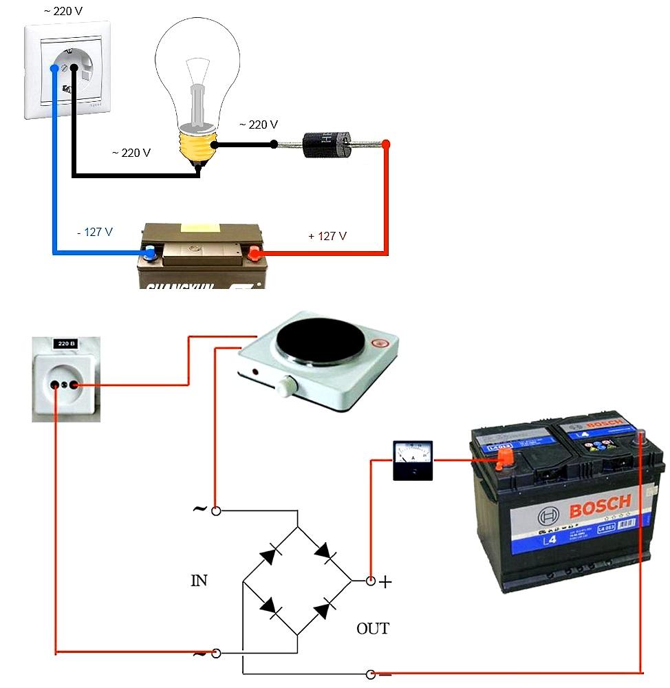 зарядное устройство для аккумулятора из подручных средств