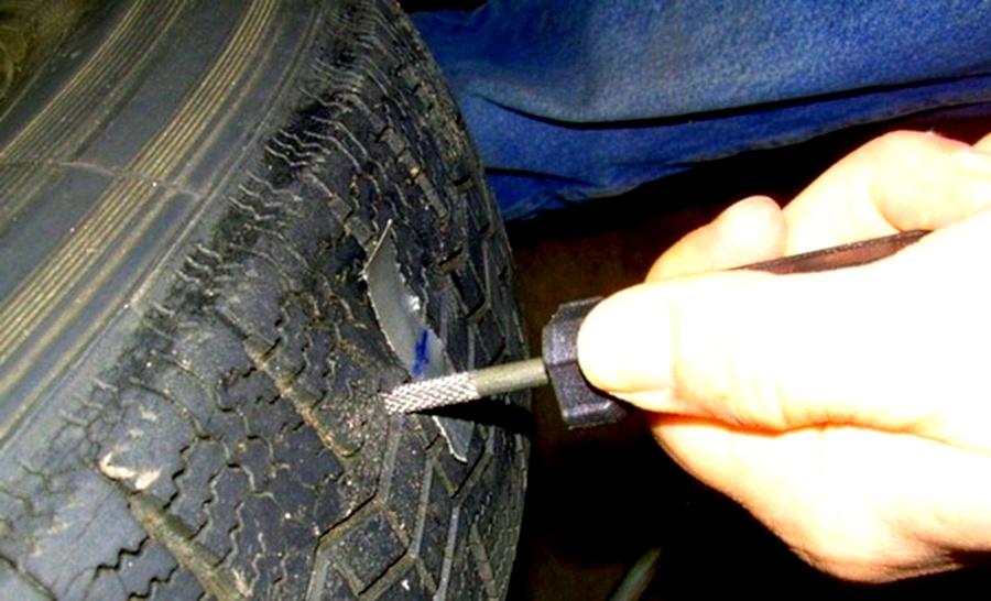 Подготовка прокола к ремонту жгутом