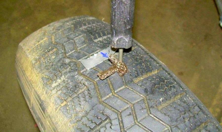 ремонт колеса жгутом