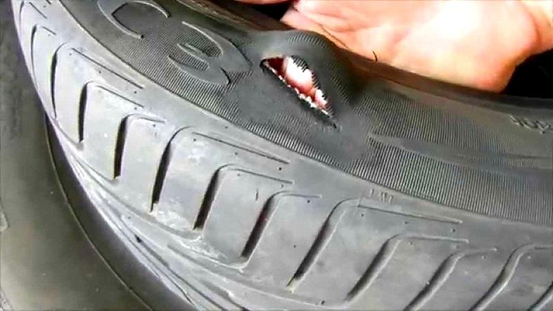 ремонтируем сами боковой порез на шине автомобиля