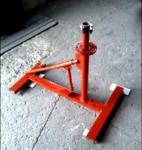 сделать станок для разбортировки колес самому