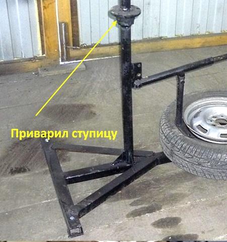 ступица для крепления колеса на шиномонтажном станке