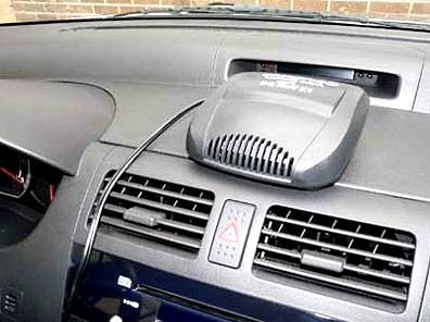 тепловентилятор в салоне авто