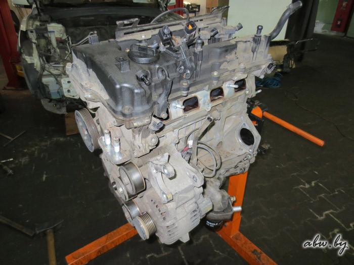 снятый двигатель хендай санта фе