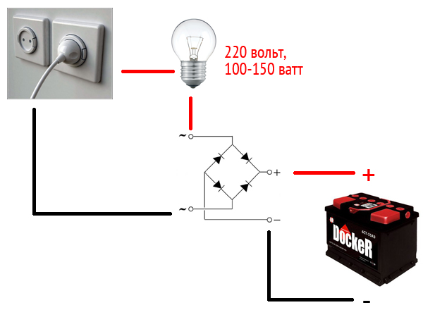 Как зарядить аккумулятор от разетки