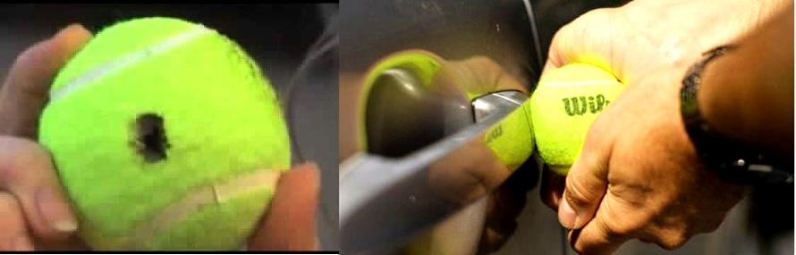 открыть дверь авто теннисным мячом
