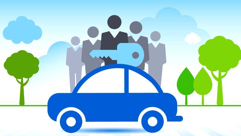 совместное использование автомобиля
