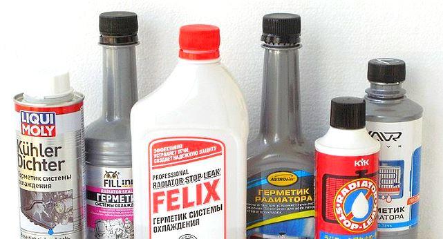 герметик для устранения протеканий радиатора автомобиля
