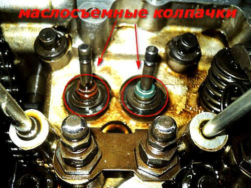 износ маслосъемных колпачков двигателя автомобиля