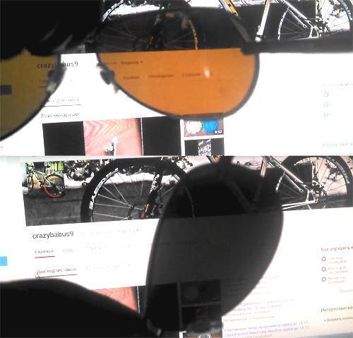 проверка поляризации линз на очках водителя
