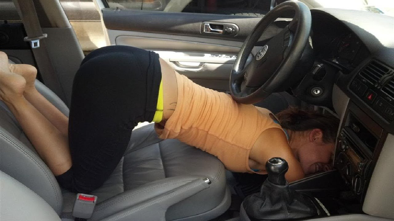 приколы женщины за рулем авто