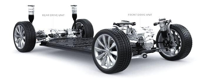 Подвеска и ходовая часть электромобиля Тесла