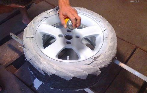грунтовка диска авто перед покраской