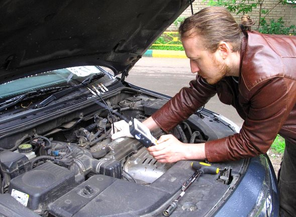 проверка двигателя машины бу