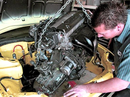 цена на замену двигателя