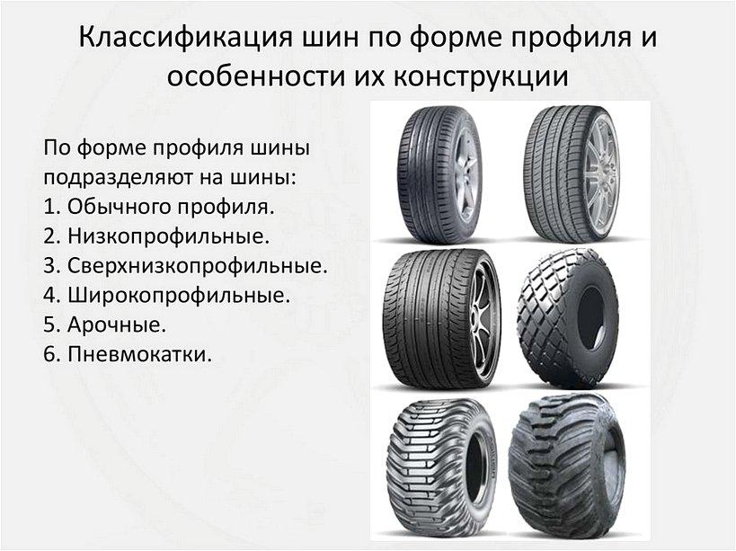 Типы профилей автомобильных шин