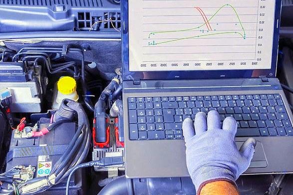 диагностика автомобиля с помощью ноутбука