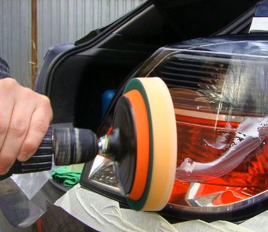 самостоятельная полировка фар автомобиля снимаем муть