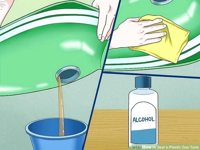 заклеить бензобак эпоксидным клеем