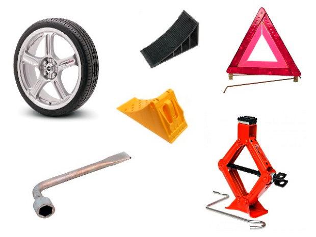 как поменять колесо