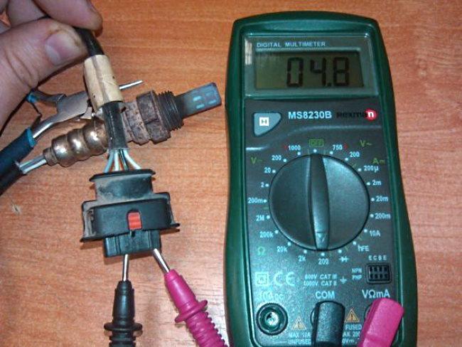 Как проверить датчик кислорода мультиметром