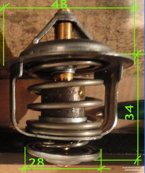 замена термостата двигателя