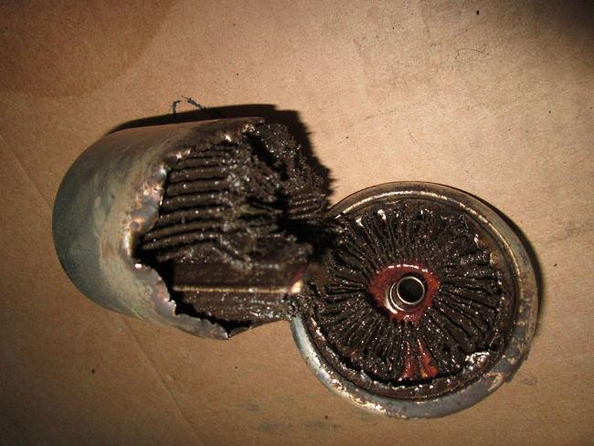 Засоренный топливный фильтр
