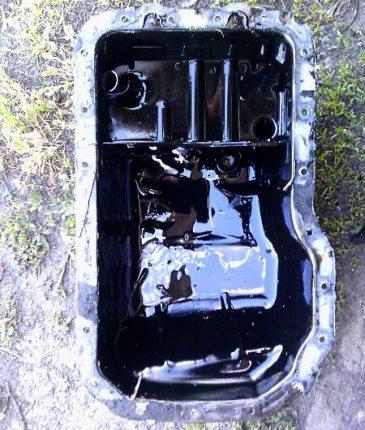замена масляной прокладки картера в машине